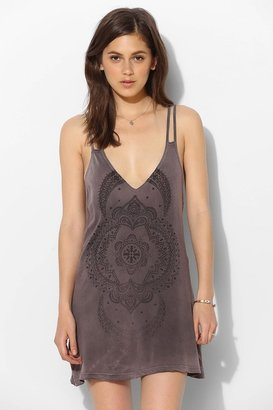Truly Madly Deeply Filigree Moon Strappy Back Slip Dress