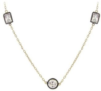By the Yard Gold Over Silver Cubic Zirconia Necklace - Gold