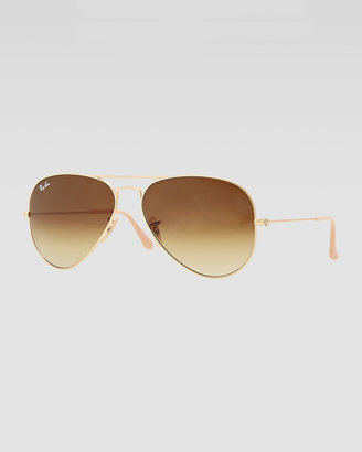 Ray-Ban Original Aviator Sunglasses, Gold/Brown