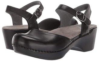 Dansko Sam (Black) Women's 1-2 inch heel Shoes