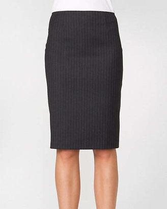 Le Château Stripe Wool Blend Pencil Skirt