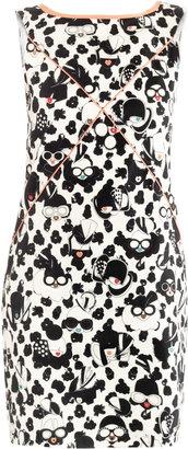Giles Stampato-print cotton-pique dress