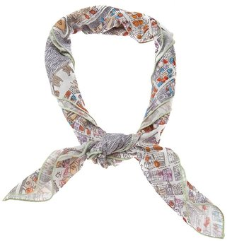 Carven City print scarf