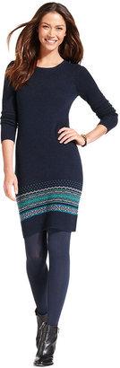 Tommy Hilfiger Long-Sleeve Fair-Isle Sweaterdress
