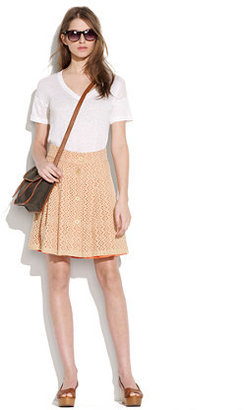Madewell Sam & laviTM textured button-front skirt