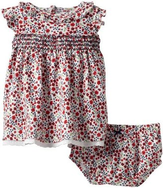 Hartstrings Baby-Girls Newborn Printed Interlock Dress and Diaper Cover Set
