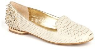 Arturo Chiang Bonni Embossed Leather Studded Flats