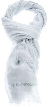 Emporio Armani logo scarf