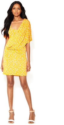 Tracy Reese Printed Jersey Surplice Dress