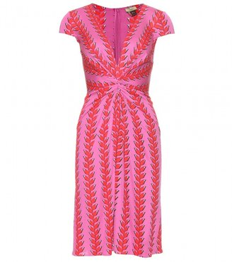 Issa SOLID PRINT DRESS WITH RUCHED DETAIL