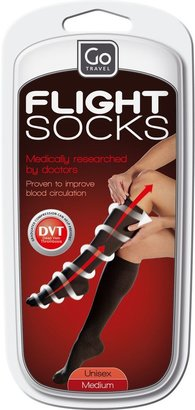 Go Travel 899 Flight Socks, Black, Medium