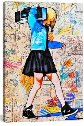 Icanvas 'I'Ll Be The Kid With The Big Plans - Annie Terrazzo' Giclee Print Canvas Art $102 thestylecure.com