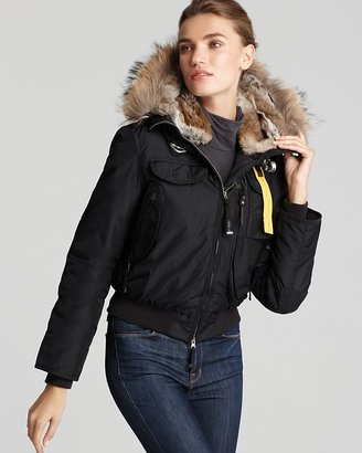 Parajumpers Gobi Down Bomber Jacket with Fur Hood