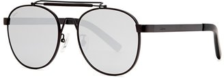 FAKE ME Ozzy Black Mirrored Oval-frame Sunglasses