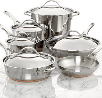 Anolon Nouvelle Copper Stainless Steel 11 Piece Cookware Set