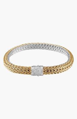 John Hardy 'Classic Chain' Diamond Two-Tone Bracelet, 6.5mm