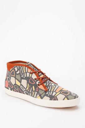 Pointer Footwear Skeletal Canvas High-Top Sneaker