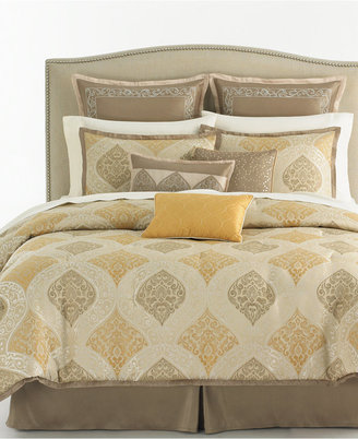 Martha Stewart CLOSEOUT! Collection Noble Scroll 9 Piece King Comforter Set