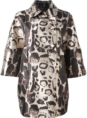 Blumarine printed coat