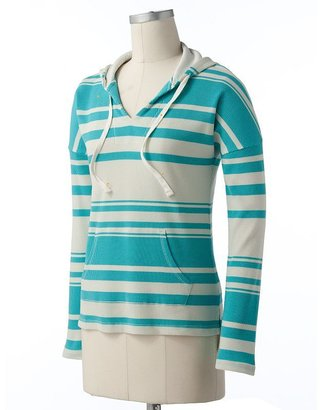 Sonoma life + style striped thermal hoodie