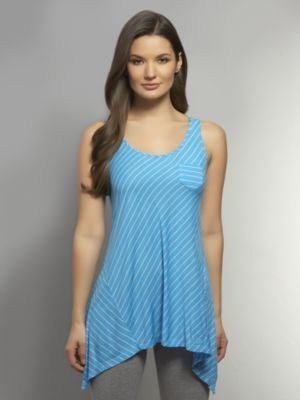 New York & Co. Love NY&C Collection - Striped Tunic Tank