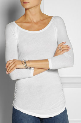 James Perse Stretch-cotton jersey top