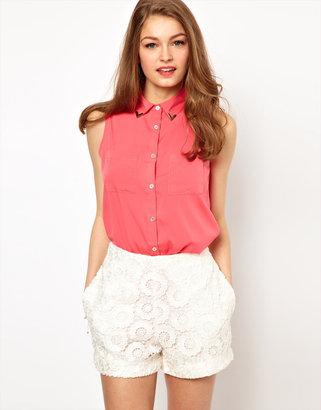 A/Wear A Wear Dipped Hem Shirt