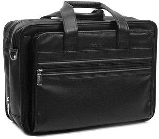 Kenneth Cole Reaction Manhattan Leather Expandable Double Gusset Laptop Brief