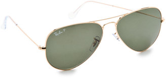 Ray-Ban Polarized Aviator Sunglasses $200 thestylecure.com