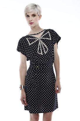 Sugarhill Boutique Polka Dot Bow Dress