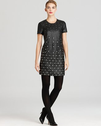 French Connection Dress - Dexy Leather Studded