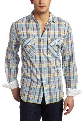 Arnold Zimberg Men's Plaid Button Down Shirt