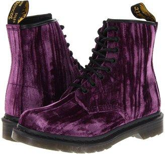 Dr. Martens Castel 8-Eye Boot DLS (Purple Crushed Velvet) - Footwear