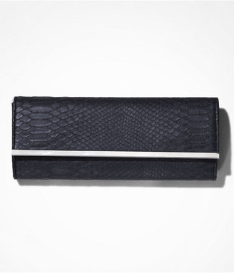 Express Rounded Fold-Over Hard Case Clutch