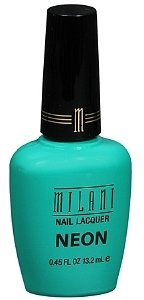 Milani Neon Nail Lacquer, Fresh Teal 504