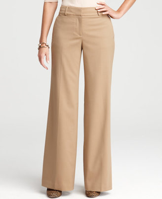 Curvy Twill Wide Leg Trousers