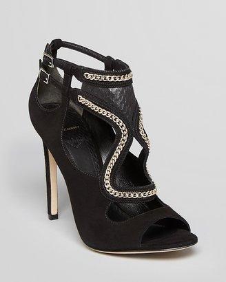 Brian Atwood Open Toe Evening Sandals - Lollita4 High Heel