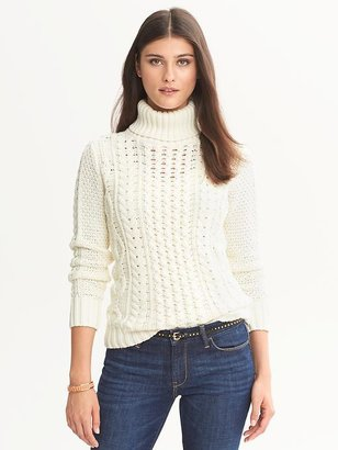 Banana Republic Cable-Knit Turtleneck