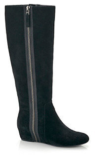 "Nine West Malcet"" Knee-High Wedge Boot - Black"