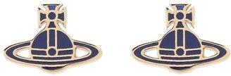Vivienne Westwood Mini Metal Kate Earrings (Yellow Gold/Lapis) - Jewelry