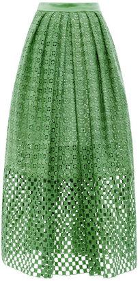 Tibi Sonoran Eyelet Skirt