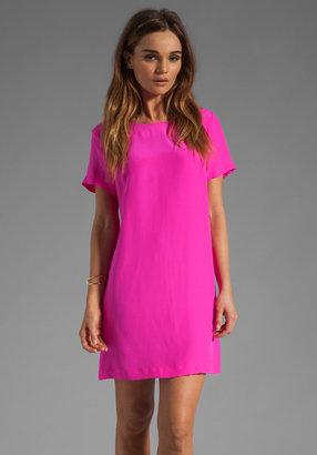 Amanda Uprichard Silk Short Sleeve Sheath Dress