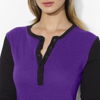 Lauren Ralph Lauren Ralph Contrast-Sleeved Cotton Henley