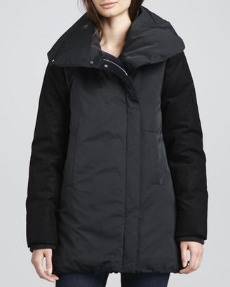 Theory Briola Shawl-Collar Puffer Coat
