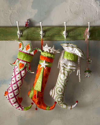 Patience Brewster Bead-Bedecked Christmas Stockings