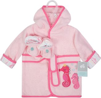 Just Born Baby Girl Robe & Booties Set