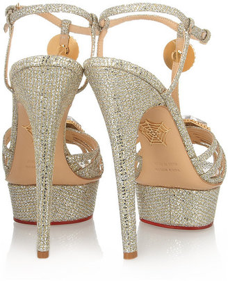 Charlotte Olympia Leading Lady glitter-finished sandals