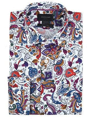 Duchamp Paisley-print tailored-fit single-cuff cotton shirt - for Men
