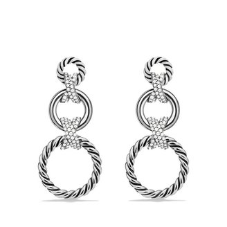 David Yurman X Triple-Drop Earrings with Diamonds
