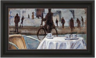 """KitchenArt """"Bicycle Ride"""" Framed Wall Art"""